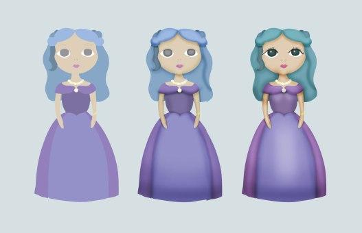 Illustration - Purple princess